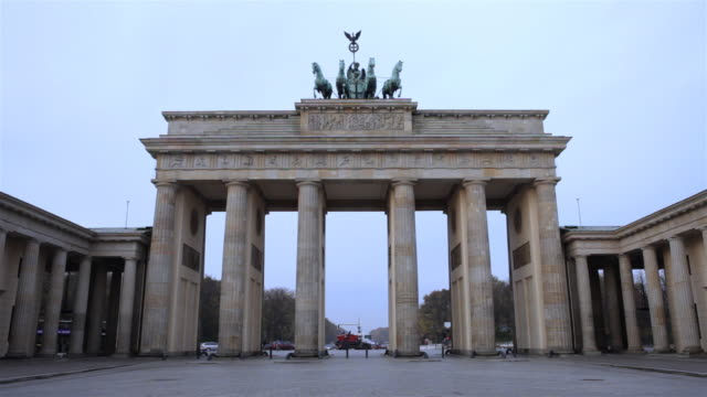Brandenburger Tor in Berlin, am frühen Morgen