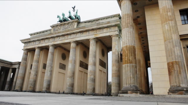 Brandenburg Gate, Berlin, early morning wide-angle shot
