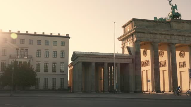 brandenburg gate in berlin, germany - german culture stock videos & royalty-free footage