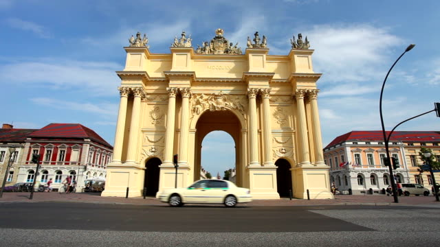 brandenburger tor in potsdam - potsdam brandenburg stock videos & royalty-free footage