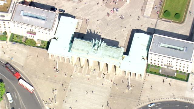Brandenburg Gate In Sun  - Aerial View - Berlin,  Berlin,  Stadt,  Germany