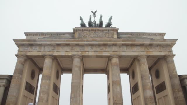 ms la td brandenburg gate in winter / berlin, germany - east berlin stock videos & royalty-free footage