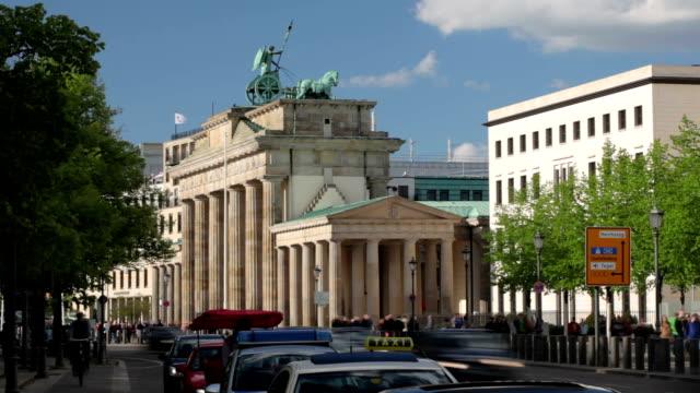 brandenburg gate - european culture stock videos & royalty-free footage