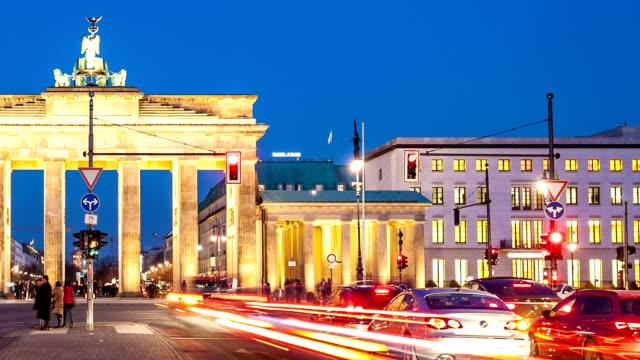 Brandenburg Gate with traffic