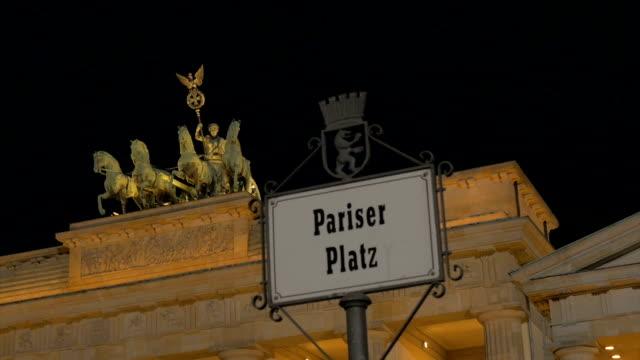 Brandenburg gate,Berlin,Night,CU,