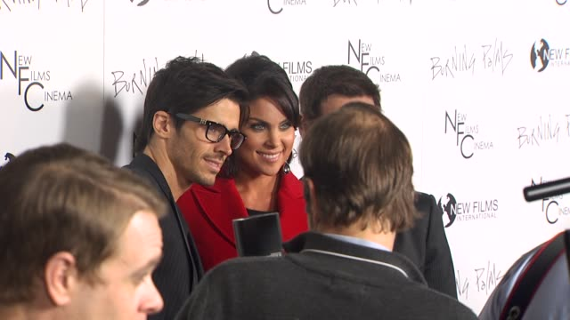 brandon beemer nadia bjorlin and christian leblanc at the 'burning palms' premiere at hollywood ca - nadia bjorlin stock videos & royalty-free footage