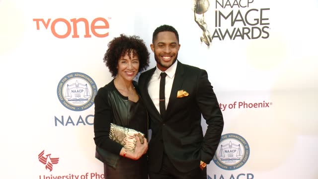 stockvideo's en b-roll-footage met brandon bell at the 46th annual naacp image awards arrivals at pasadena civic auditorium on february 06 2015 in pasadena california - pasadena civic auditorium