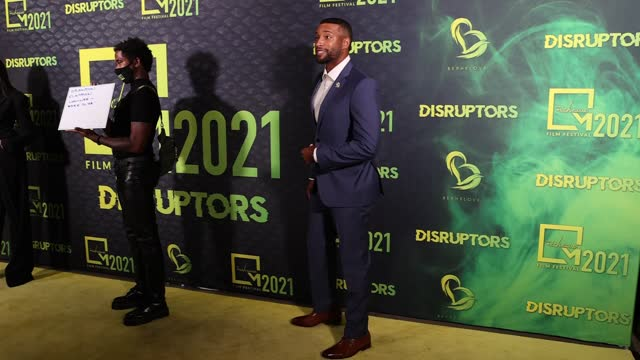 brandon clayborn attends micheaux film festival partners with oprah winfrey network and sony pictures entertainment for 1st hybrid festival in los... - film festival stock videos & royalty-free footage