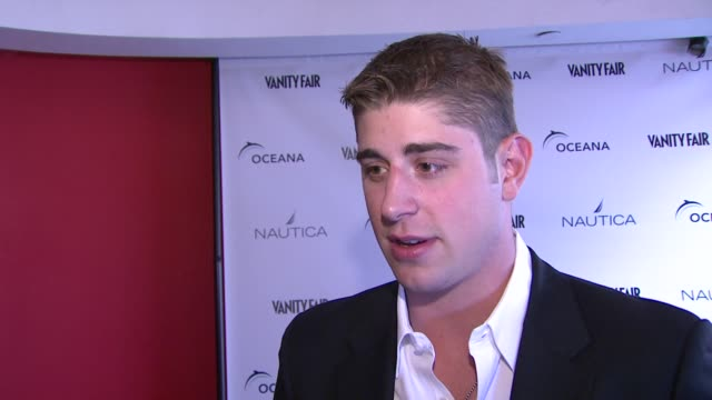 Brandon Dubinsky on what brings him out tonight why protecting the ocean is important and tips to help save the ocean at the Oceana Nautica Vanity...