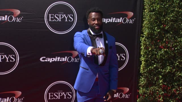 brandon lafell at the 2015 espys at microsoft theater on july 15 2015 in los angeles california - microsoft theater los angeles stock videos and b-roll footage