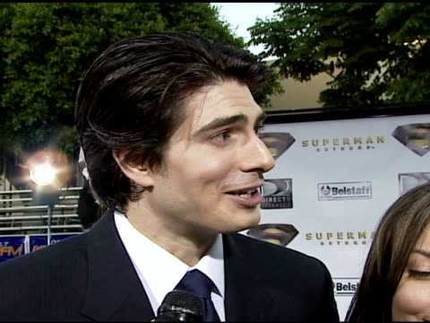 brandon routh on expecting audiences to be surprised by how emotional this superman story is on the amount of weights he had to lift to put on the 22... - brandon routh bildbanksvideor och videomaterial från bakom kulisserna