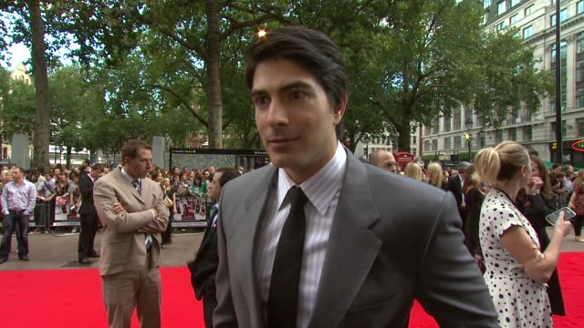 brandon routh on how he prepared for his role his character being a rock star and being evil on his expectations of the film and if he will play... - brandon routh bildbanksvideor och videomaterial från bakom kulisserna