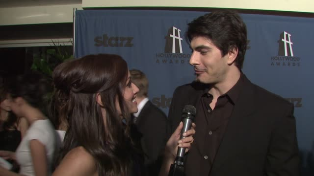 brandon routh on the event at the 12th annual hollywood film festival hollywood awards gala at los angeles ca - brandon routh bildbanksvideor och videomaterial från bakom kulisserna
