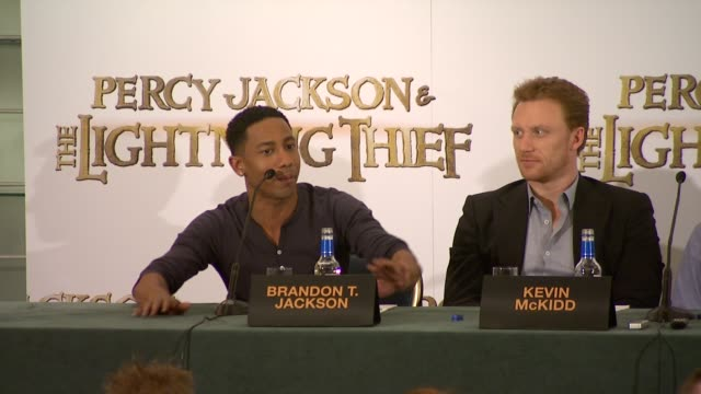 brandon tjackson on the books on auditioning and on loving chris columbus' vision of the story logan lerman on being attracted by chris columbus'... - falling in love stock videos & royalty-free footage