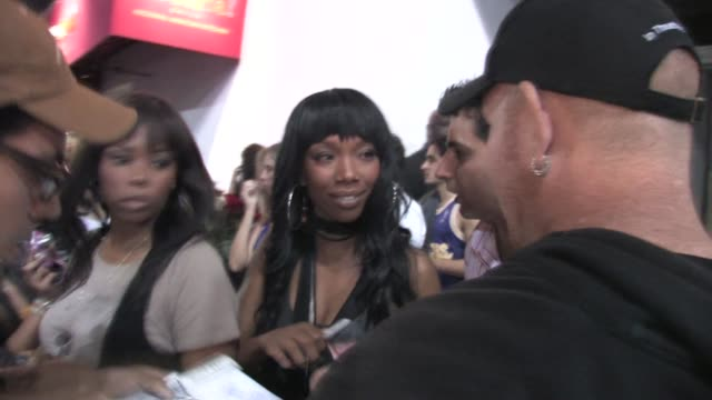brandy at staples center at the celebrity sightings in los angeles at los angeles ca - the center stock videos & royalty-free footage