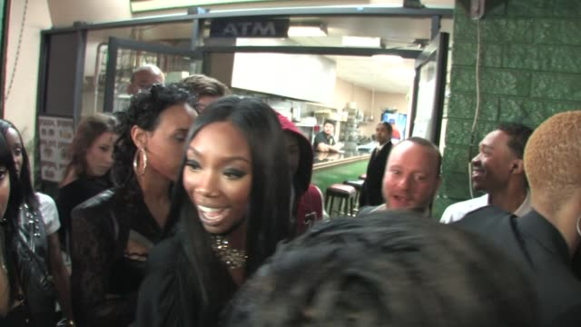 brandy at the playhouse in hollywood 02/14/11 at the celebrity sightings in los angeles at los angeles ca - playhouse stock videos & royalty-free footage