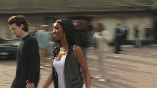 brandy at the we are the world 25th anniversary recording for haitian earthquake relief at los angeles ca - 25th anniversary stock videos and b-roll footage
