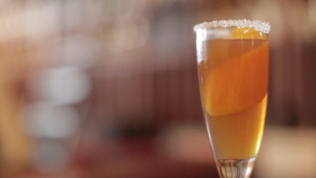 Brandy Cocktail in Sugar-Rimmed Glass