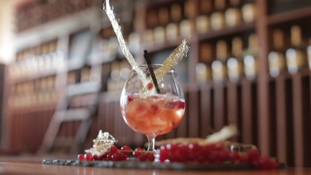 Brandy Cocktail Topped with Spun Sugar