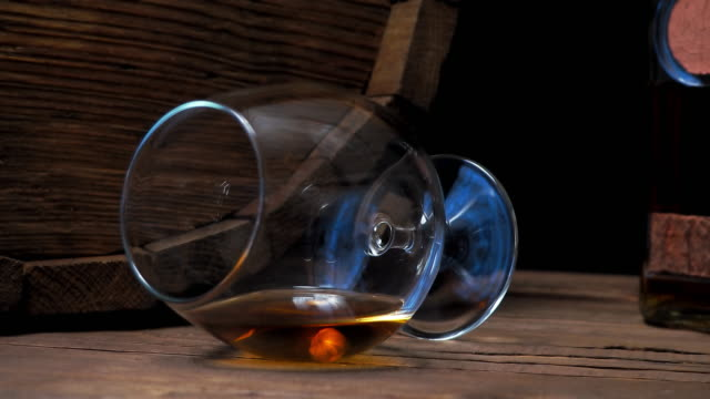 brandy on bar counter - brandy snifter stock videos & royalty-free footage