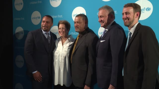 Brannigan Thompson Caryl Stern Laurence Fishburne Steve Eaton and Jeremy Cole at UNICEF's Evening For Children First In Atlanta on March 17 2017 in...