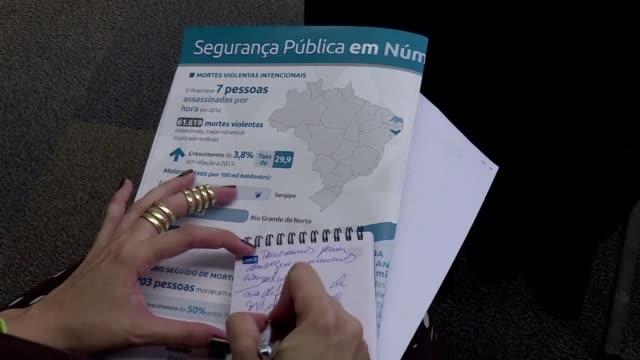brasil registro 61619 muertes violentas en 2016 y por primera vez el informe de la ong foro brasileno de seguridad publica reflejo cifras de... - numero stock videos & royalty-free footage
