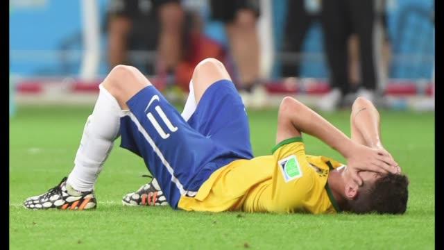 Brasil sin su estrella Neymar fue eliminado en semifinales de su Mundial al recibir una goleada historica de 71 ante Alemania