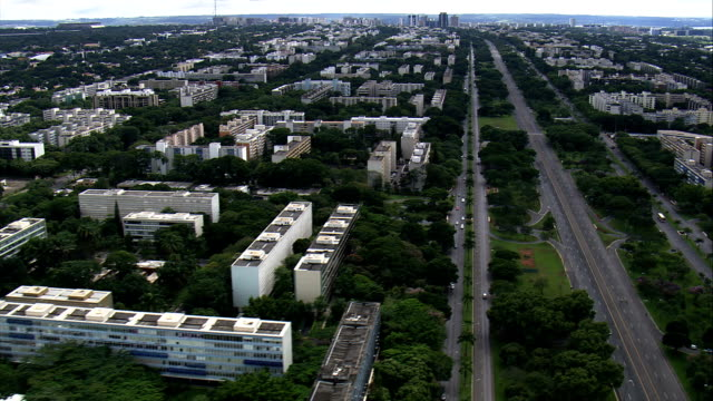 brasilia south wing  - aerial view - federal district, brasília, brazil - brasilia stock videos and b-roll footage
