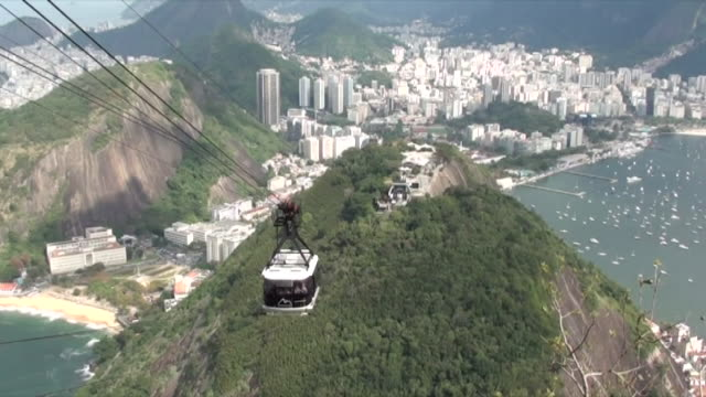 Brasilien - Cable car descending in Rio 02