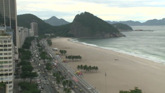 vidéos et rushes de brasilien - rio beach and copacabana palace hotel - palace