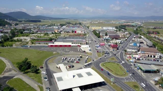 brasov, romania: bartolomeu industrial area - industrial district stock videos & royalty-free footage