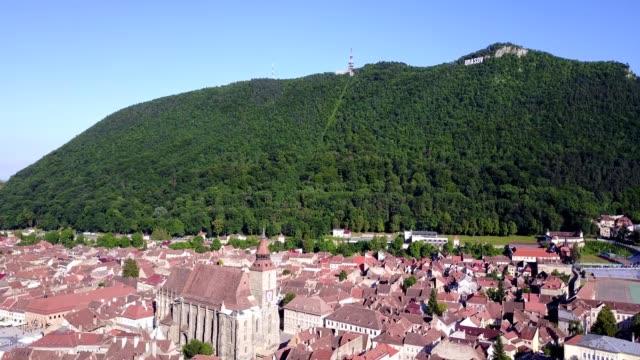 brasov takeoff from belvedere vista point - transylvania stock videos & royalty-free footage