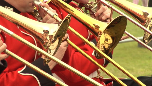 Brass band playing Trombone - HD & PAL