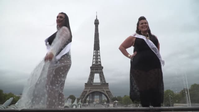 braving the rain and the covid-19 restrictions in paris, several hundred women of different shapes and sizes hold a fashion show at the foot of the... - diversity stock videos & royalty-free footage