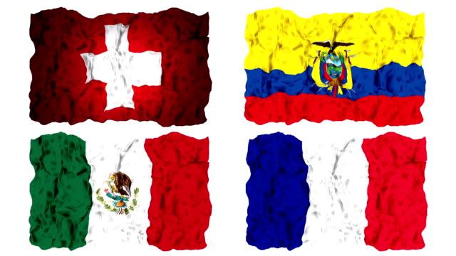 Brésil 2014 groupe E drapeaux
