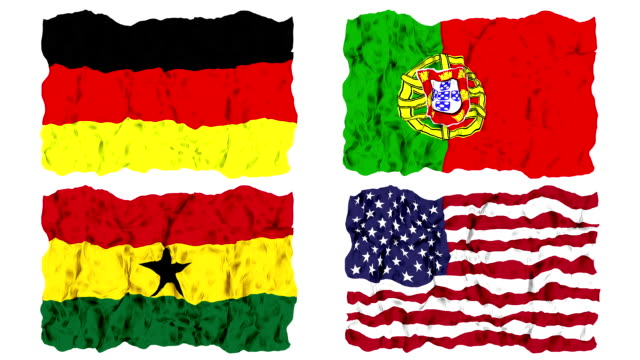 Brazil 2014 group G flags