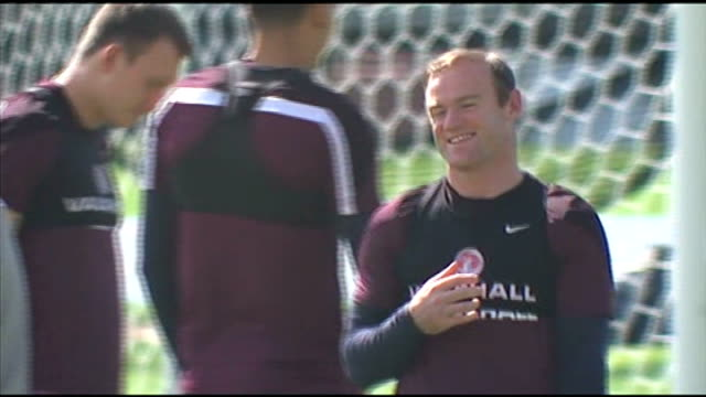 England prepare for match against Uruguay BRAZIL Rio de Janeiro EXT Various GVs of England players at training session including Wayne Rooney