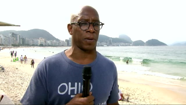 england team arrive in manaus brazil rio de janeiro ext ian wright interview sot - ian wright stock videos and b-roll footage