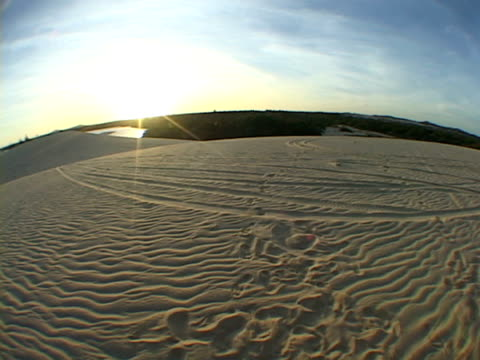 MS, FISH EYE, PAN, Brazil, Ceara, Fortaleza, Sunset above sand dune