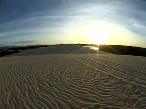 MS, ZI, FISH EYE, Brazil, Ceara, Fortaleza, Sunset above sand dune