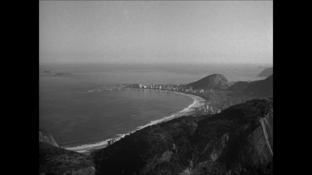 brazil coastline ha ws brazil beach water front costal front tropical trees fg - 1944 stock videos and b-roll footage