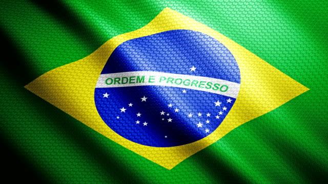 vídeos de stock, filmes e b-roll de bandeira brasil 4k - política