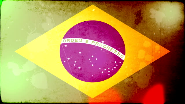 vídeos de stock, filmes e b-roll de bandeira de grunge do brasil.  em hd - bandeira