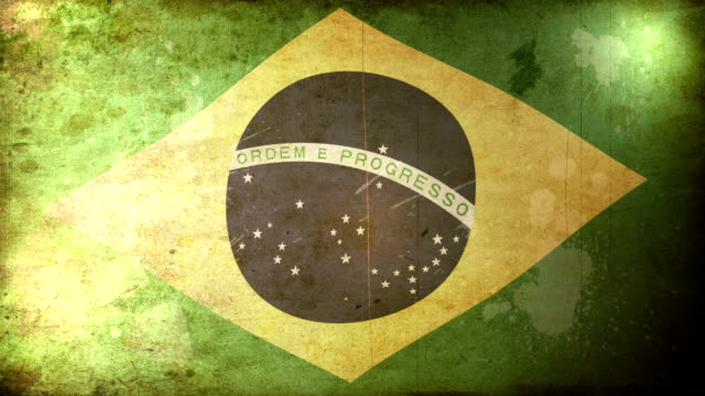 brazil flag - grunge. hd - newly industrialized country stock videos and b-roll footage