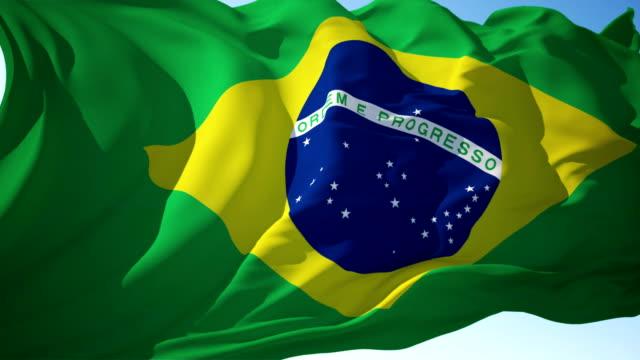 vídeos de stock, filmes e b-roll de bandeira de brasil - independência