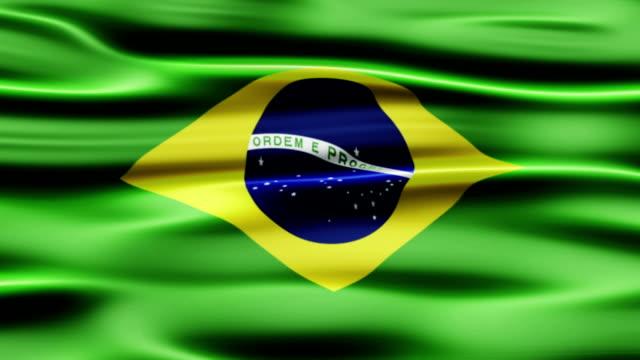 vídeos de stock, filmes e b-roll de bandeira do brasil - figura para recortar