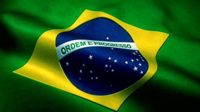 vídeos de stock, filmes e b-roll de bandeira do brasil - bandeira