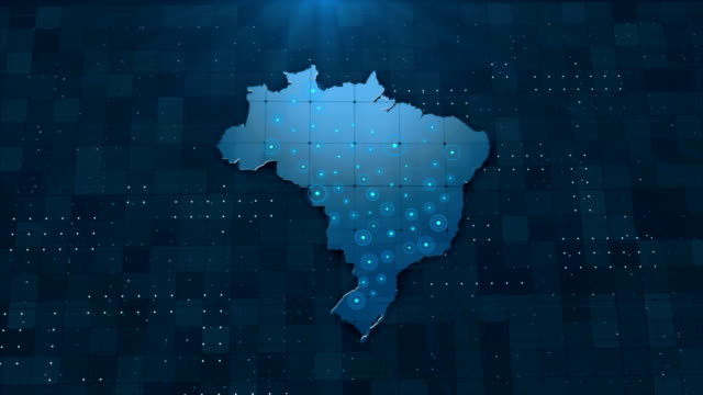 4k brazil map links 4k with full background details - brazil stock videos & royalty-free footage