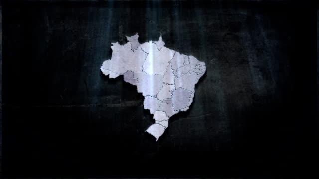 vídeos de stock, filmes e b-roll de brasil mapa futuro - mapa
