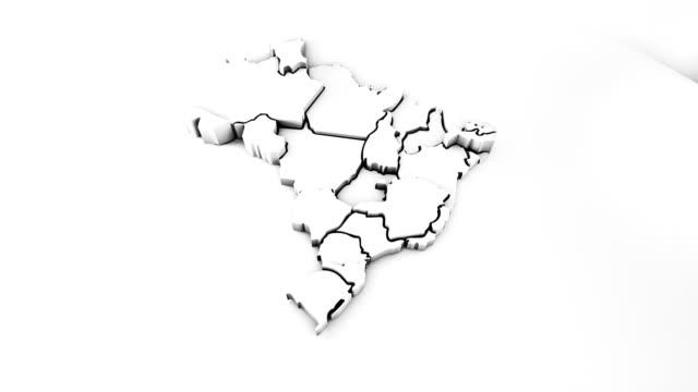 brasilien-karte - spezialeffekt stock-videos und b-roll-filmmaterial